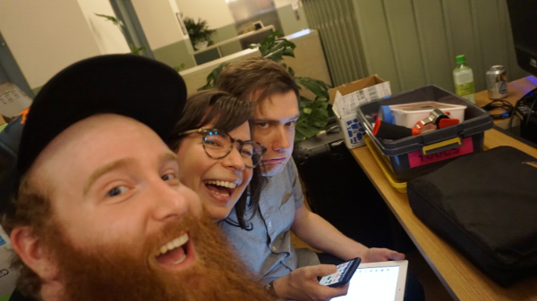 Will, Sandra, and Corey from Rose City Games. We also organize the  Portland Indie Game Squad  together.