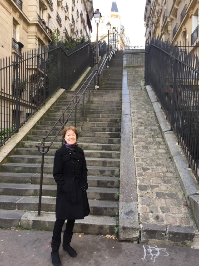 Diane Cook, practicing daily self-efficacy in Paris