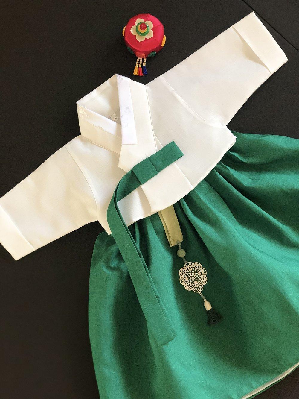 백일 그린한복(100days Green)