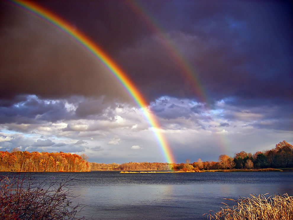 Double-rainbows-and-departing-storm-clouds-Minsi-Lake-Northampton-County-Pennsylvania.jpg
