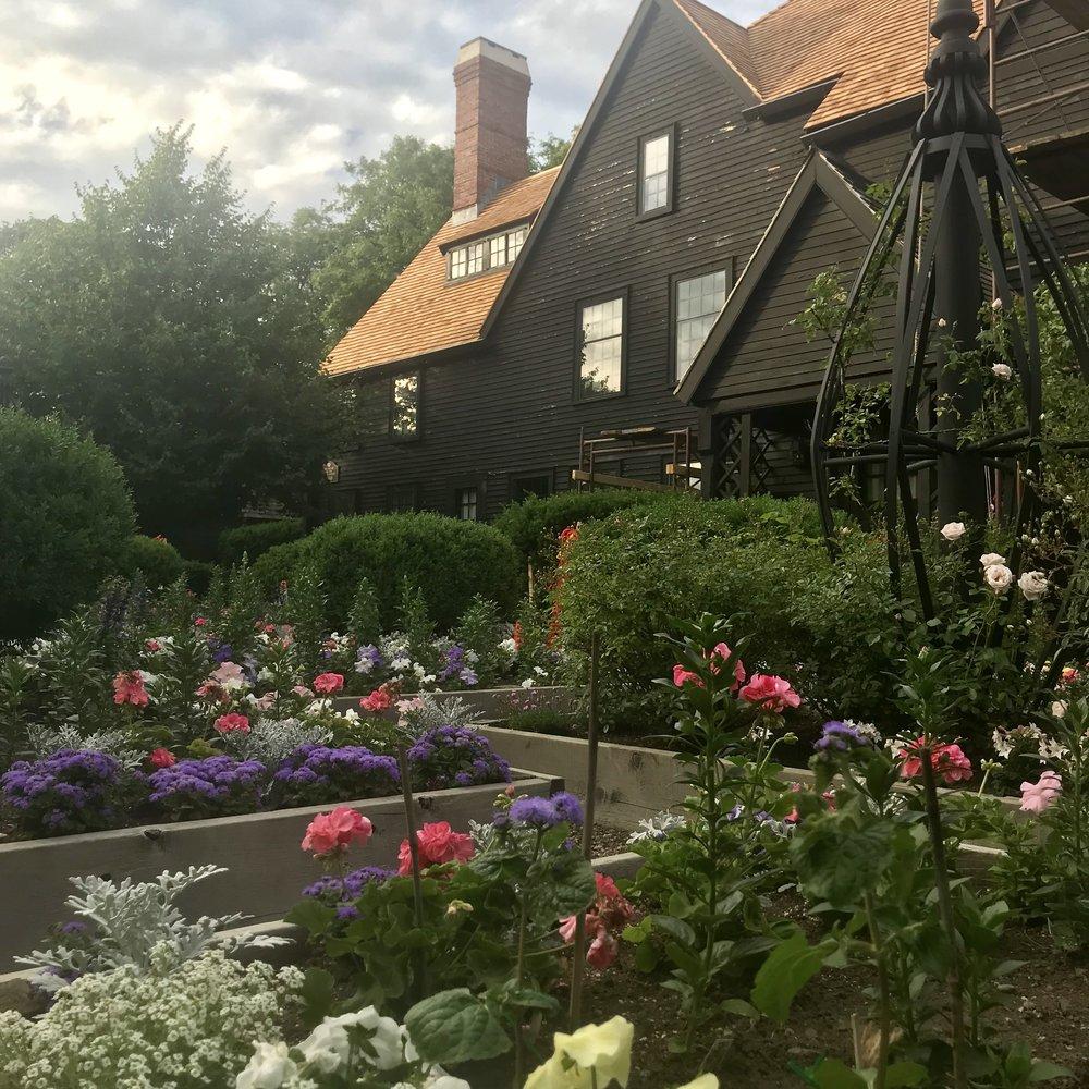 The House of the Seven Gables garden.