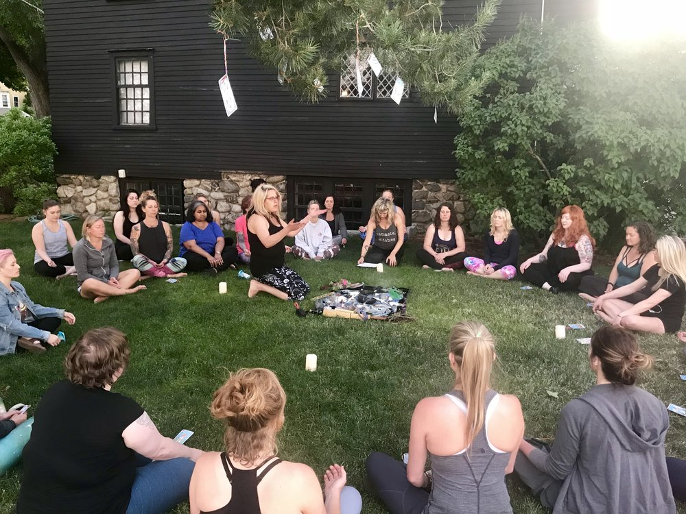Kris opens the solstice circle for meditation.