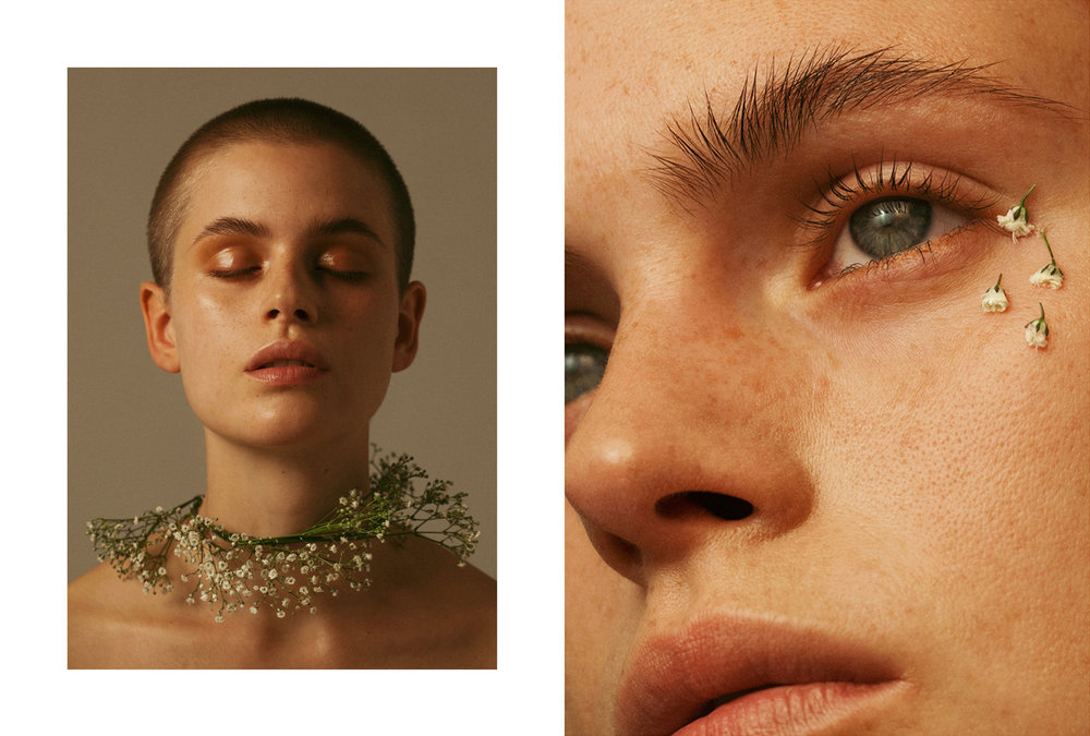 Hair/Makeup: Johanna Nomiey  Model: Cajsa W / Le Managment