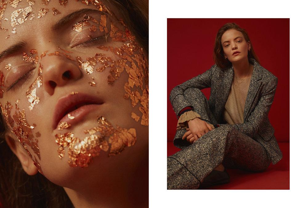 Stylist: Beatrice Trodden  Makeup: Sara Eriksson  Hair: Amanda Holmsten  Model: Cosette B / Le management