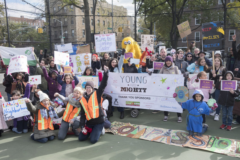 The Young and Mighty March - Civic responsibility outside the classroom engage hundreds of kids and teenagers in Queens and beyond.Contact Nancy Kleaver to learn more.
