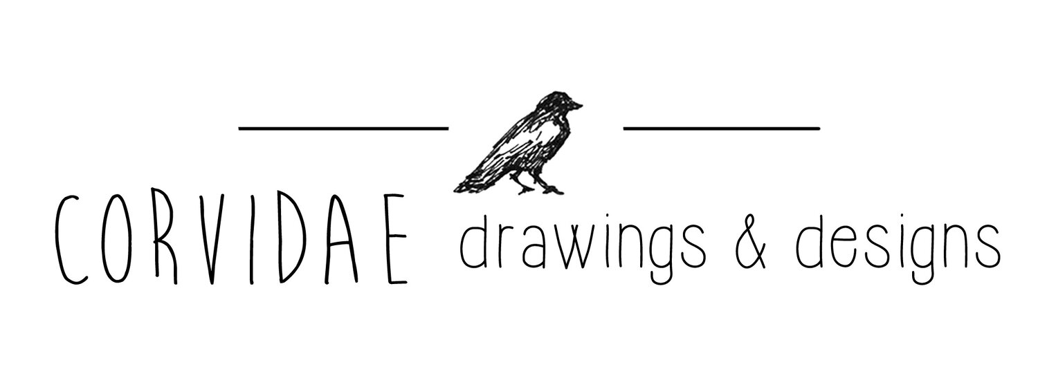 CORVIDAE drawings & designs