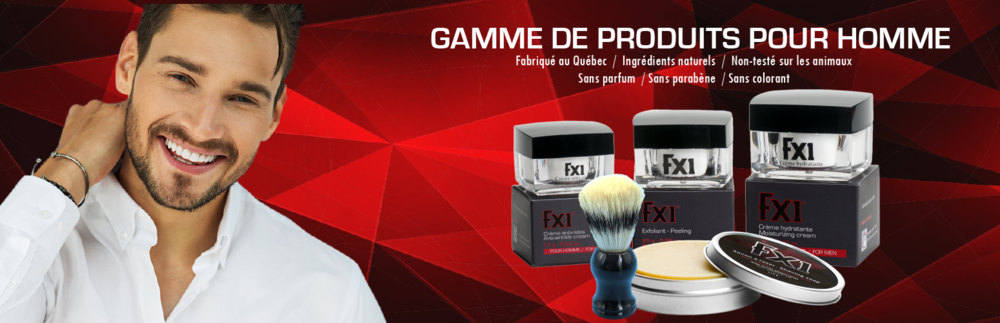 FX1 cosmetics range for men