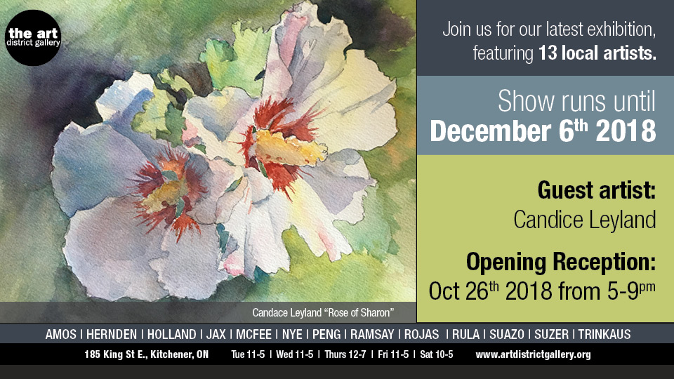 Art District Gallery - Opening Reception: October 26th, 2018 from 5-9 pmShow runs until December 6th, 2018