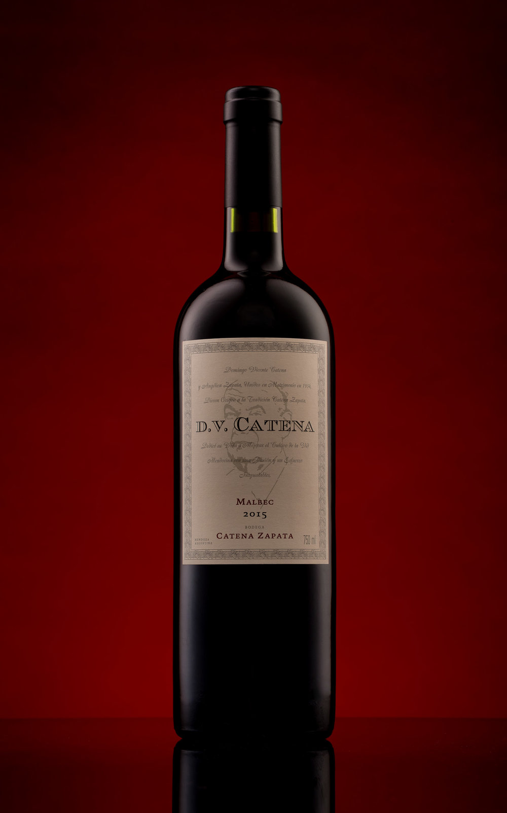 DV Catena Wine Bottle Product Photograph