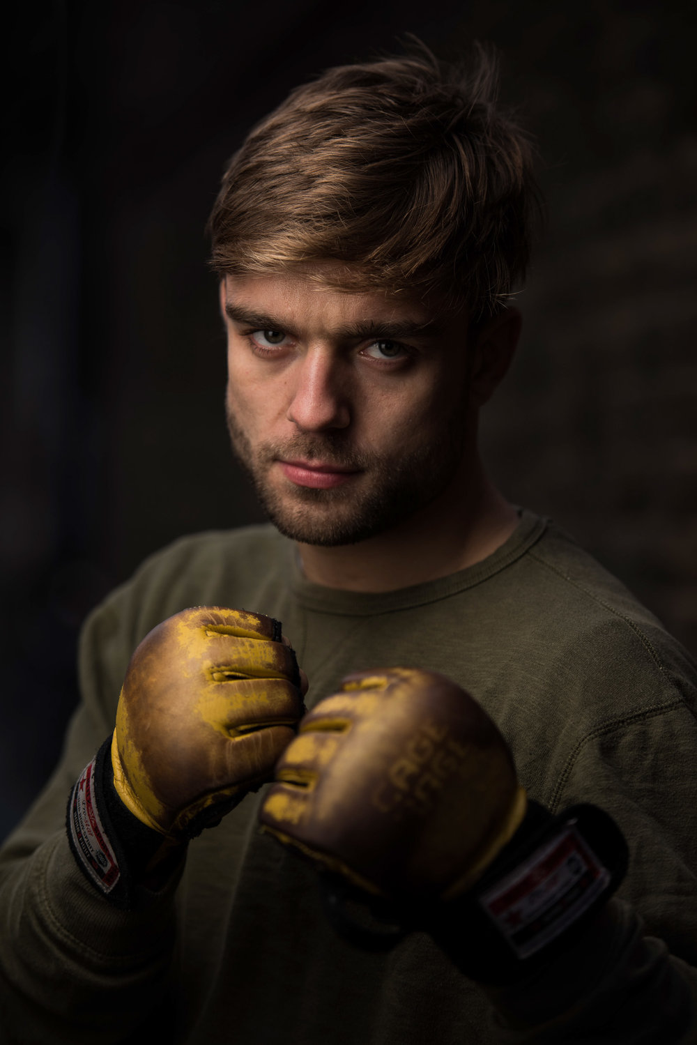 A Portrait of MMA Fighter Alfie Davis