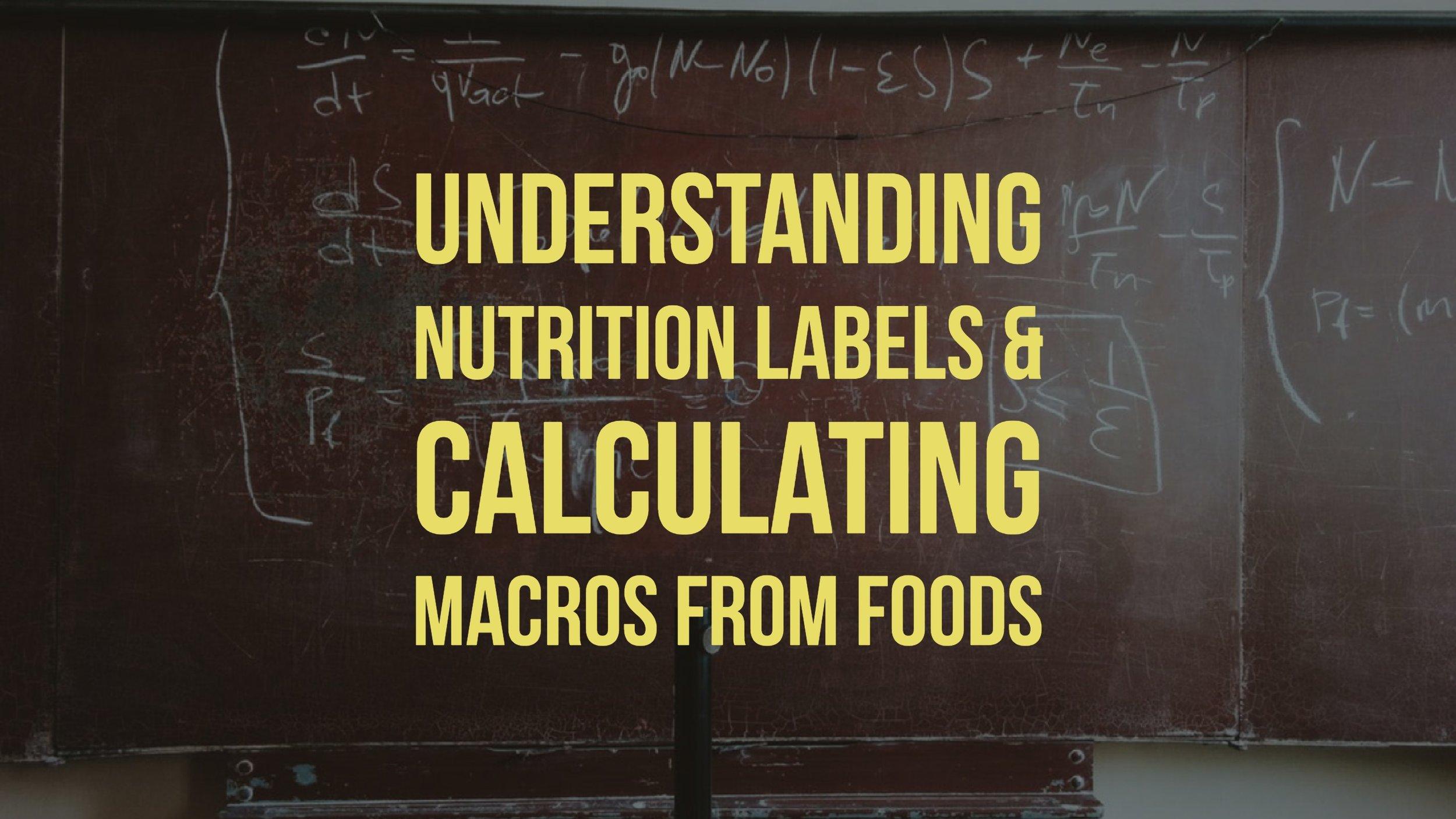 Macro Math Is Hard: Understanding Nutrition Labels