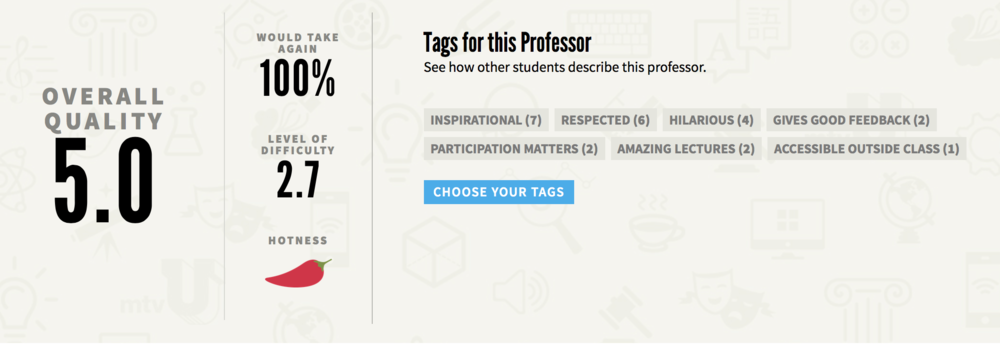 Click here to check out Dani's Professor Rating! -