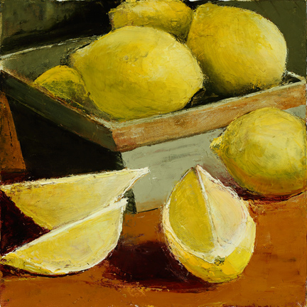 LEMONS IN A GREEN BOX