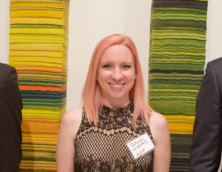 Dawn Henry Exhibitions and Membership Coordinator - Now in her third year with the organization, Henry coordinates AAP's 7-12 exhibitions a year and maintains membership records. Prior to joining AAP, she worked in the Pittsburgh studio of pop artist Burton Morris.