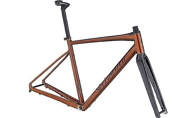 Wow! Did you know cooper is the new gold? @iamspecialized just released its limited edition Diverge E5 frame including Futureshock technology to smooth out the terrain. Available in 52-62cm frames at $1200.  How long do you think they'll last? Guesses?
