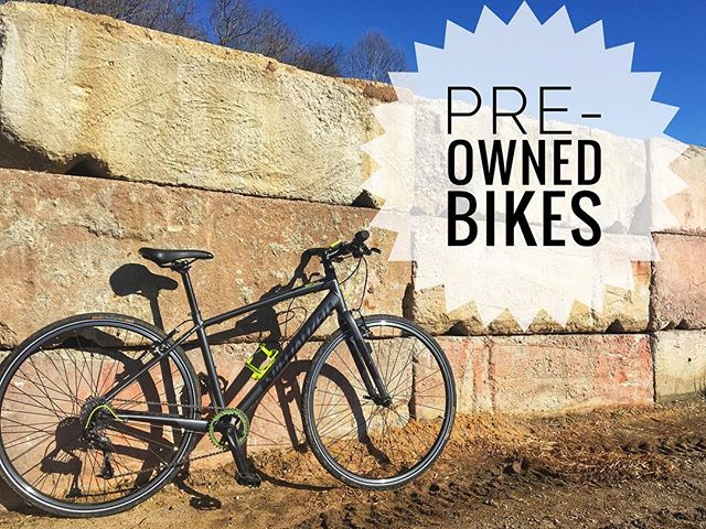Some of the best deals in the store are our Pre-Owned Bikes.  Specialized Sirrus with upgrades 1X10 drivetrain, bottle cage and cycling computer is $450.