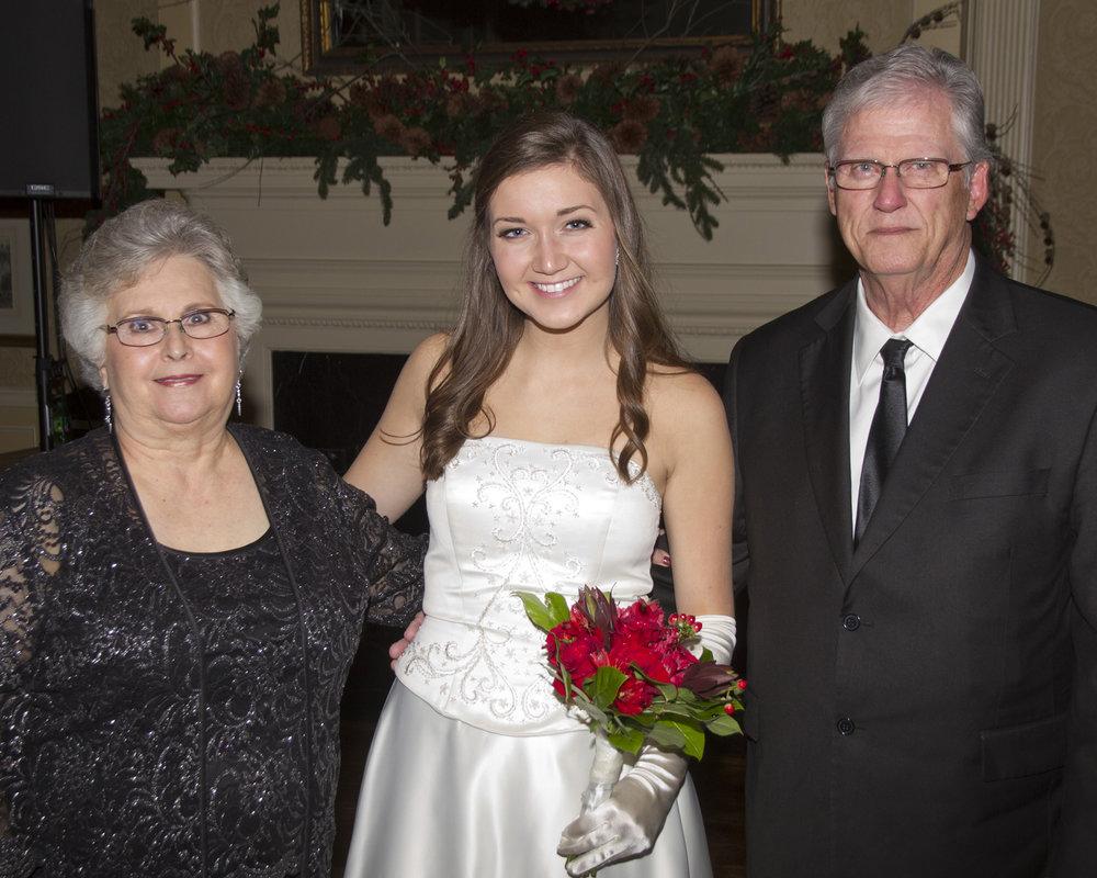 Elizabeth Brown, Kenzie Glover and David Brown