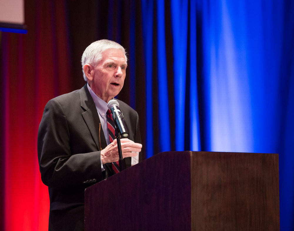 ^ During the Friends of Scouting fundraising dinner in Austin, Texas, last February, Fred served as the keynote speaker.