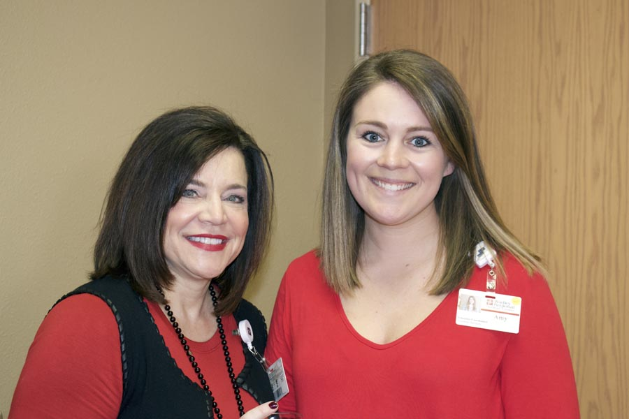 Brenda Dudley and Amy Mascoe