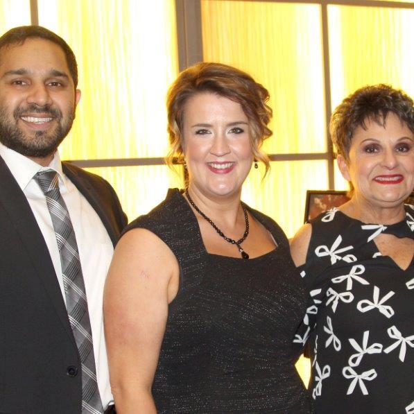 Dr. Omar Ishaq, Cristy Lummus and Francine Francis