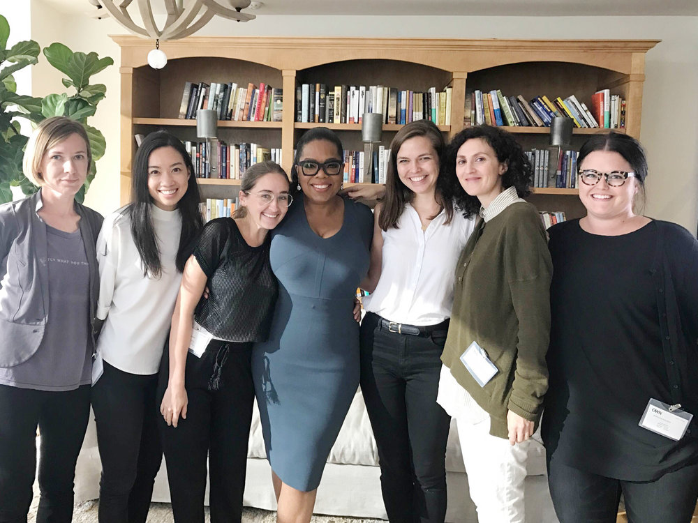 """^ Morgan (right) interviewed Oprah Winfrey while working on a large project with TIME magazine called """"Firsts: Women Who are Changing the World."""""""