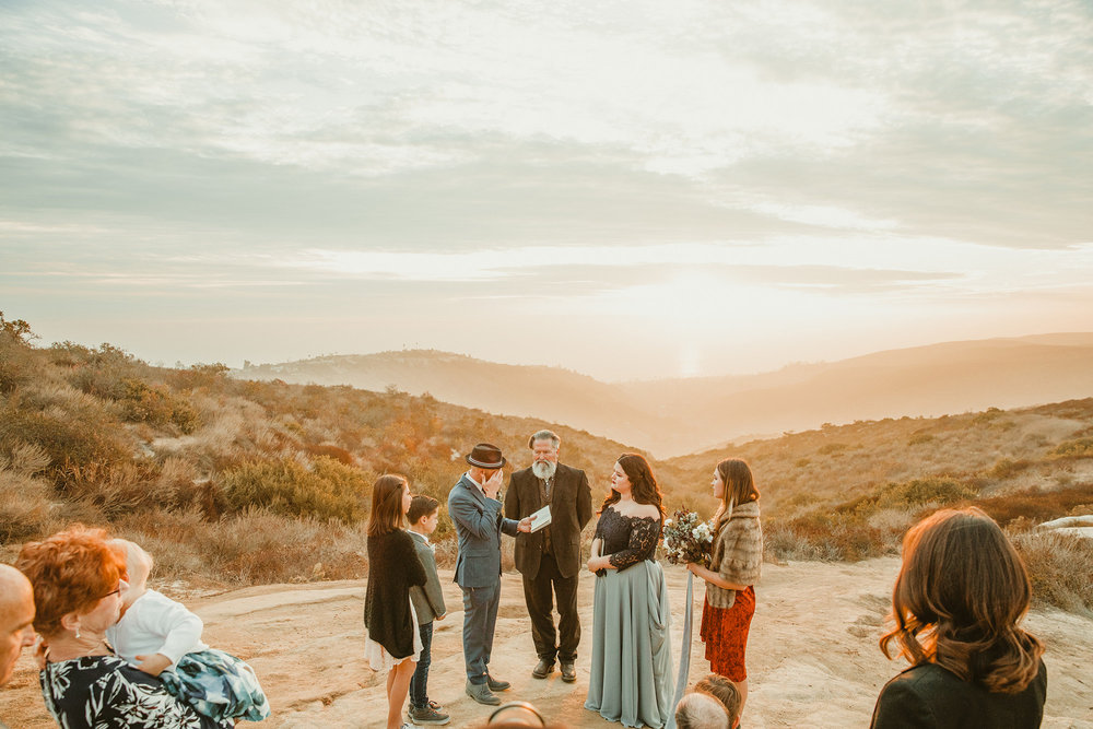 ^Morgan and her husband, Todd Baker, were married on January 1 at Top of the World in Laguna Beach, California. (Photo by Melissa Rey)
