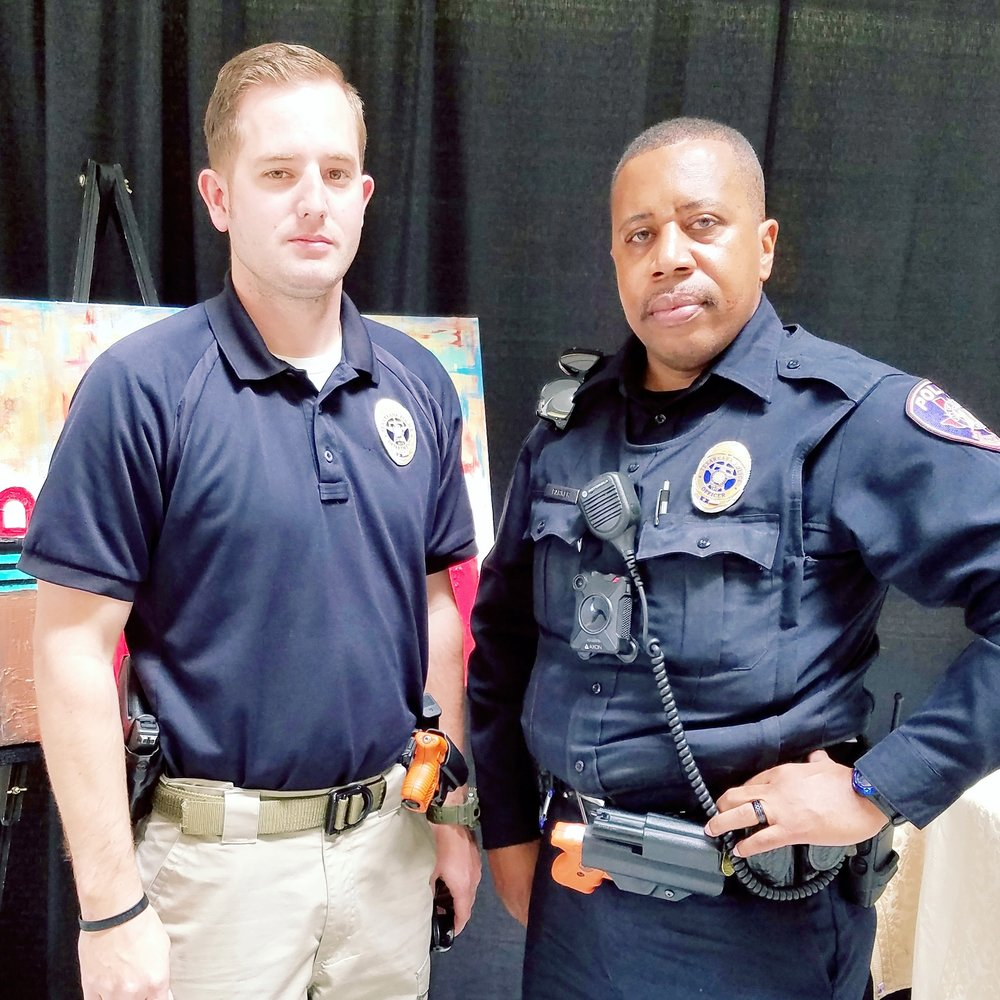 Officer Josh Armstrong and Officer Karey Parker