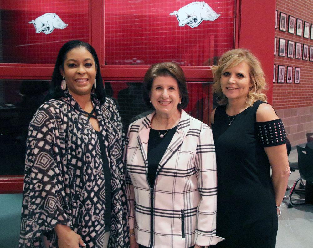 Genia Bullock, Remica Gray and Dr. Becky Kesler