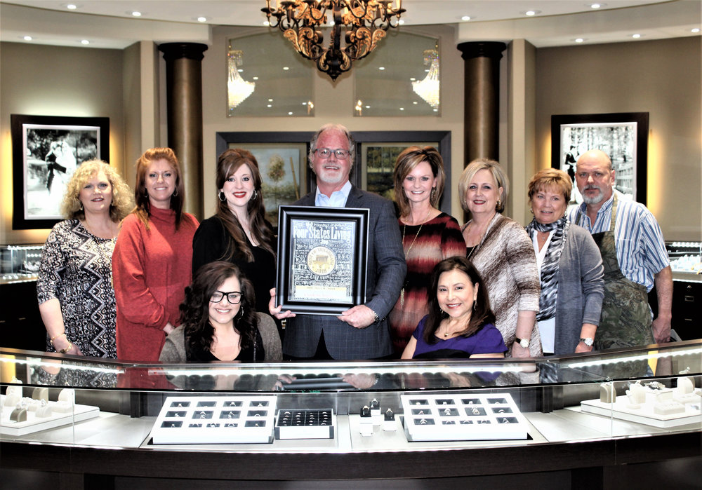 CROCKER'S JEWELERS – Teresa Harris, Jayme Thompson, Lauren Ponder, Alyssa Huckaby, Shane Woodruff, Melissa Douglass, Mary Wormington, Kathy Crutcher, Kay Marshall and Danny Carroll
