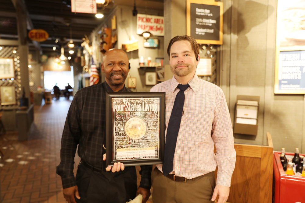 CRACKER BARREL OLD COUNTRY STORE – Errol Atkinson and Patrick Hill