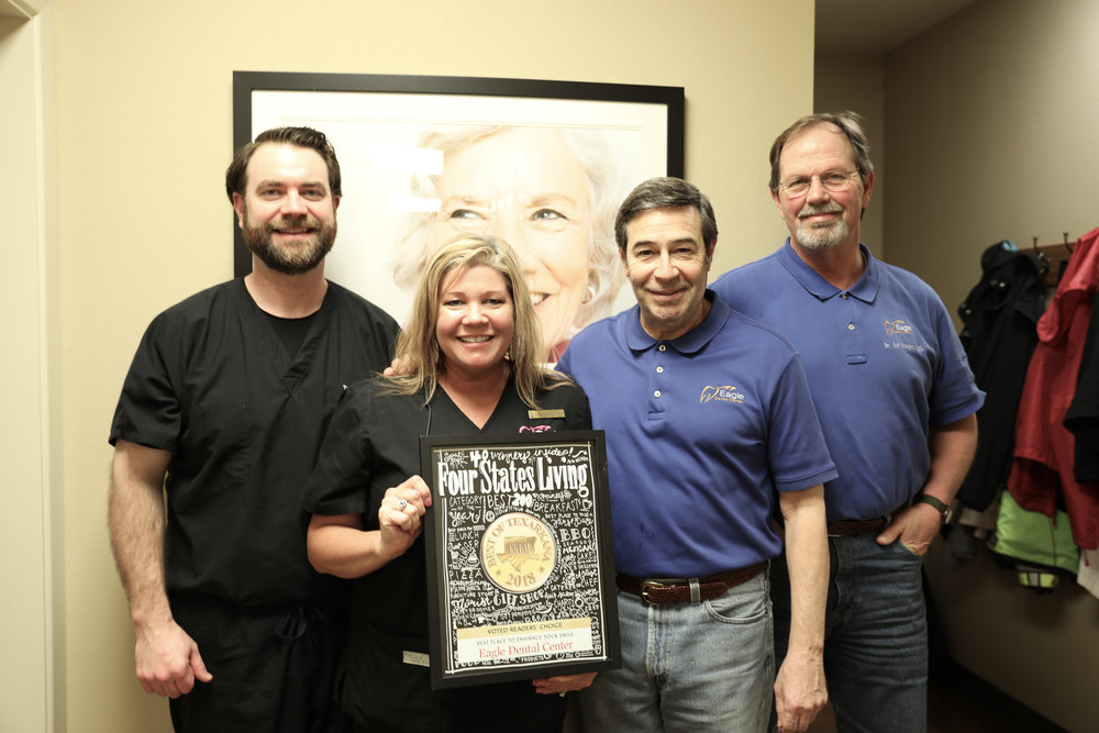 EAGLE DENTAL CENTER – Dr. Todd Hegmann, Amanda Miot, Dr. Mark Looney and Dr. James Ed Staggs