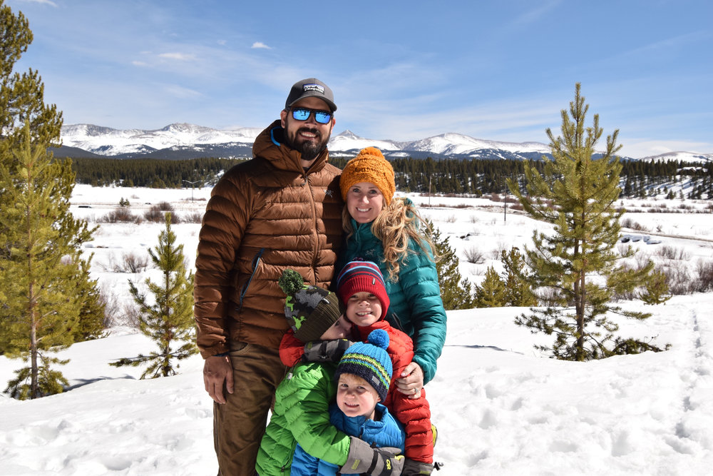 ^ Traveling is a family favorite for the Glass family. Last March, they enjoyed a ski trip in Colorado.