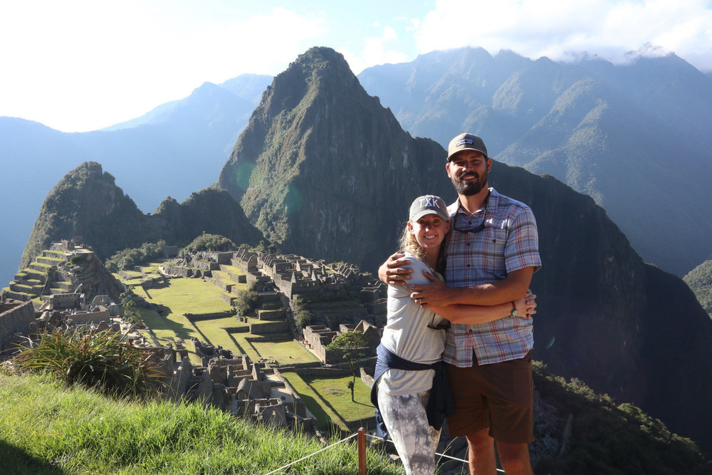 ^ Mali and Mitchell at Machu Picchu last July after hiking the Inca Trail with friends. This is where their love of alpacas began.