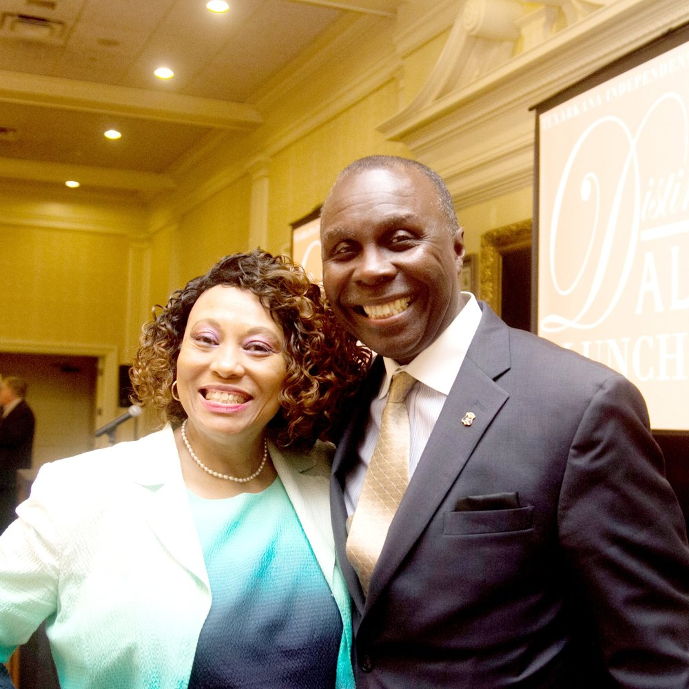 Jo Ann Rice and Rep. Marvin L. Abney