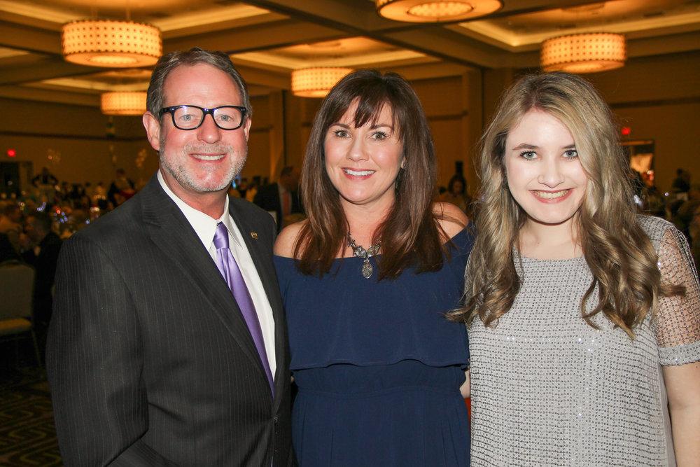 Mike Ingram, Sylvia Harrison and Megan Harrison