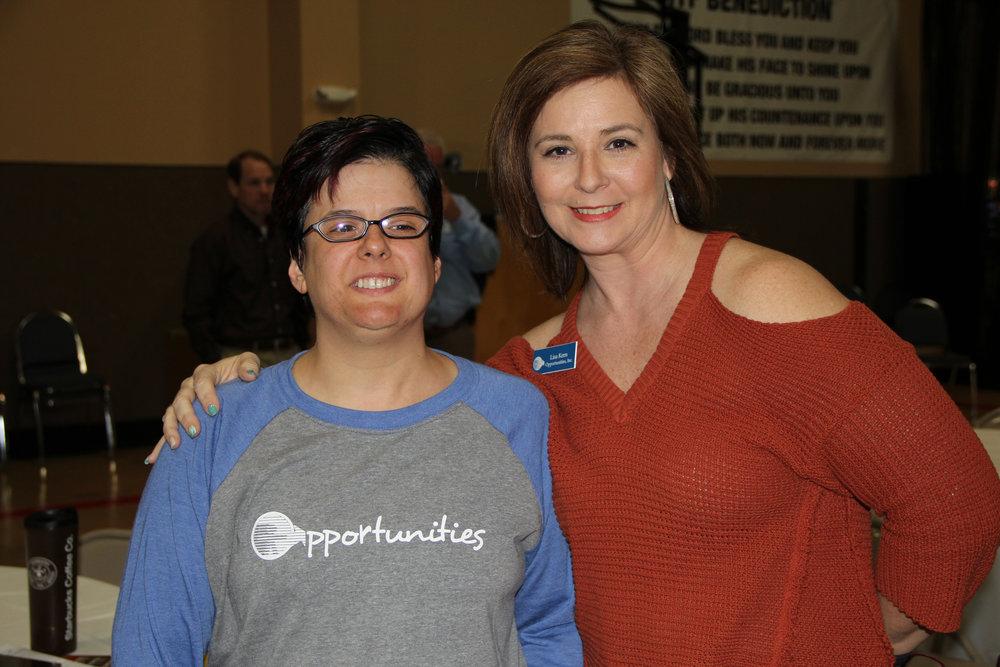 Becky Richardson and Lisa Kern