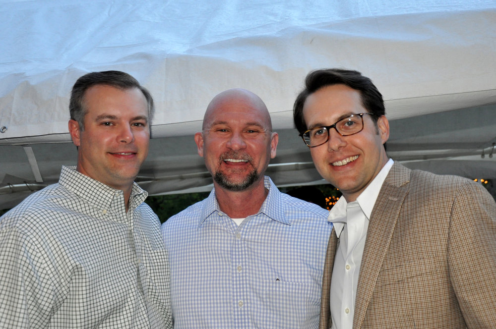 Mitch James, Dr. Jeff Phillips and John Flippo