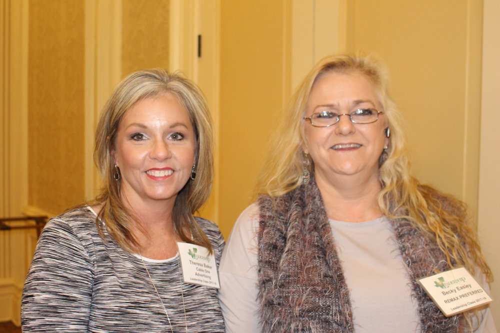Theresa Baker and Becky Easley