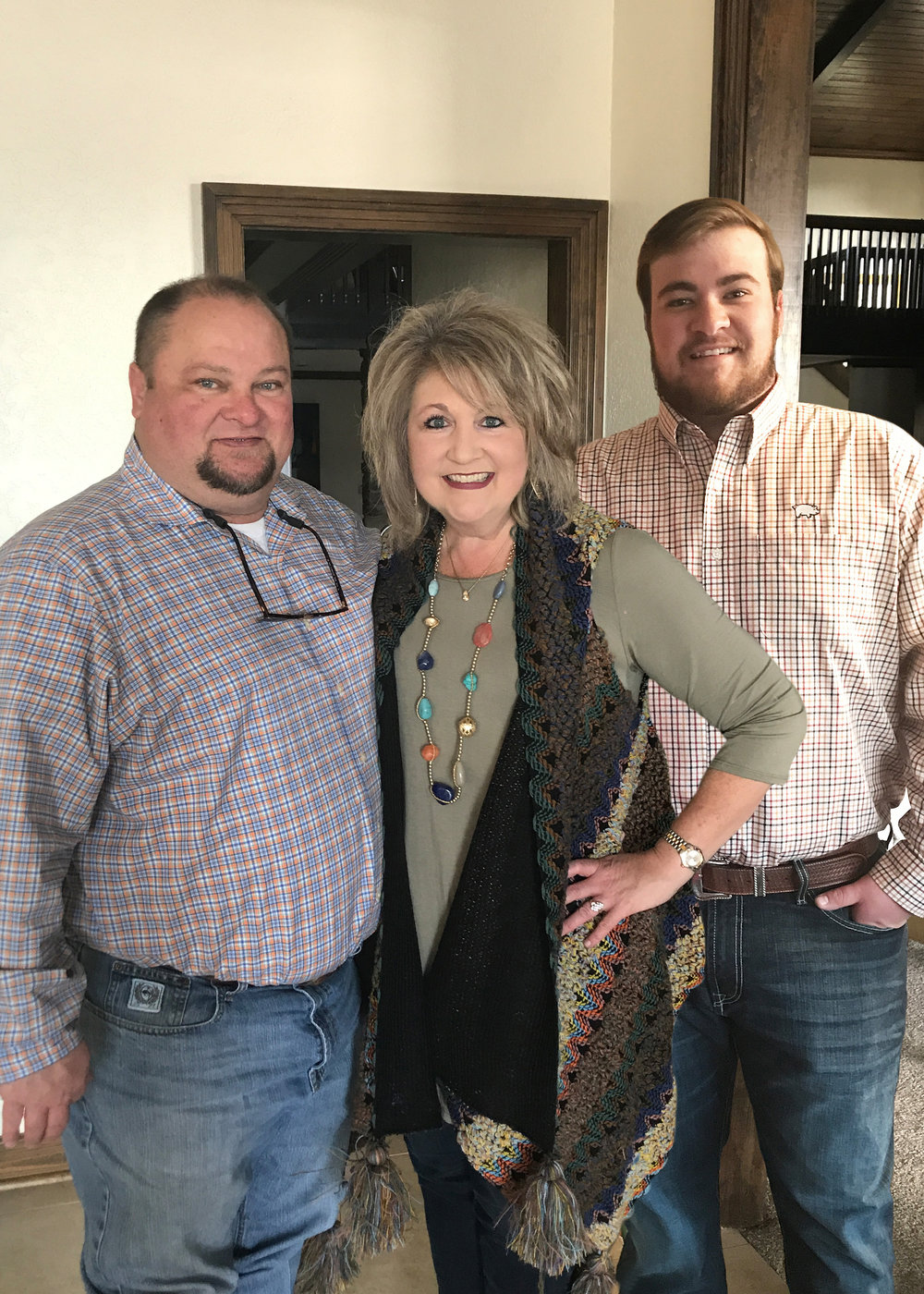 """Tim, LeAnne and Anderson this past January in Hot Springs for """"A Day at the Races."""""""