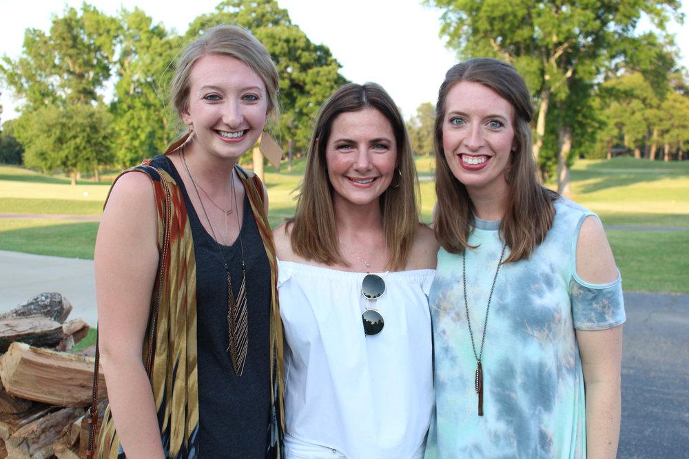 Anna Ramage, Amy Herrington and Kelsey Crews