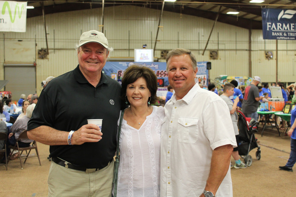 Joe Crane with Kim and Dale Penny