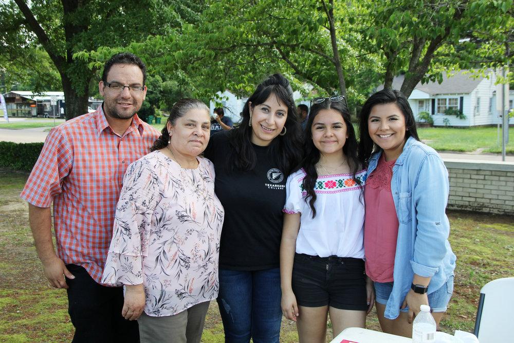 Andrés Resendiz, Maria Resendiz, Millie Serrano, Fatima Gonzales and Jackie Gonzales