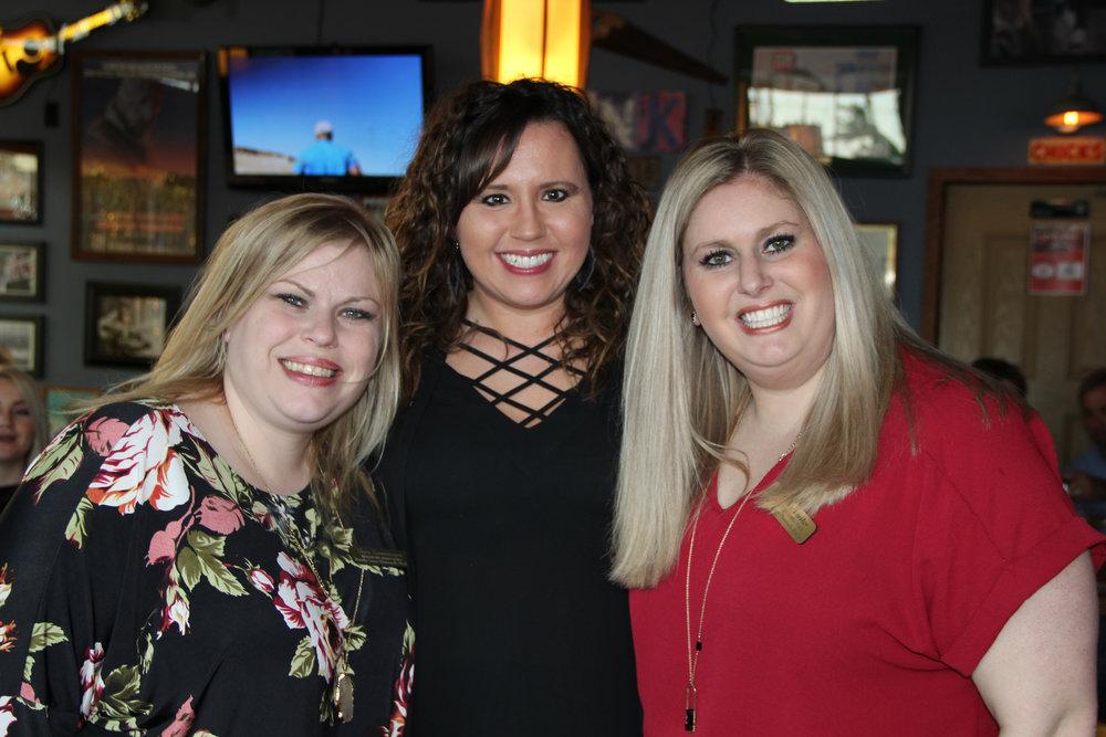 Tara Zwermann, Melissa Buster and Heather Buster