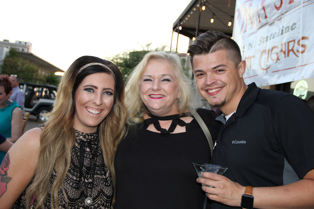 Hillary Hanes, Becky Easley and Donnie Spriggs