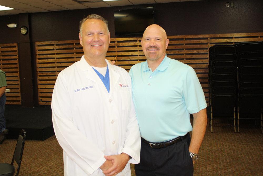 Dr. Matt Young and Pastor Jeff Schreve
