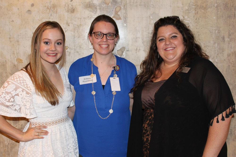 Allie Graves, Brittney Rountree and Callie Perkins