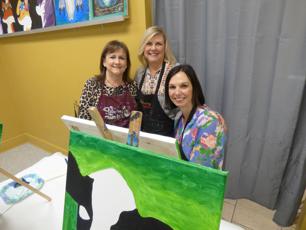 Christy Rogers, Sharon Ward and Melinda Vammen