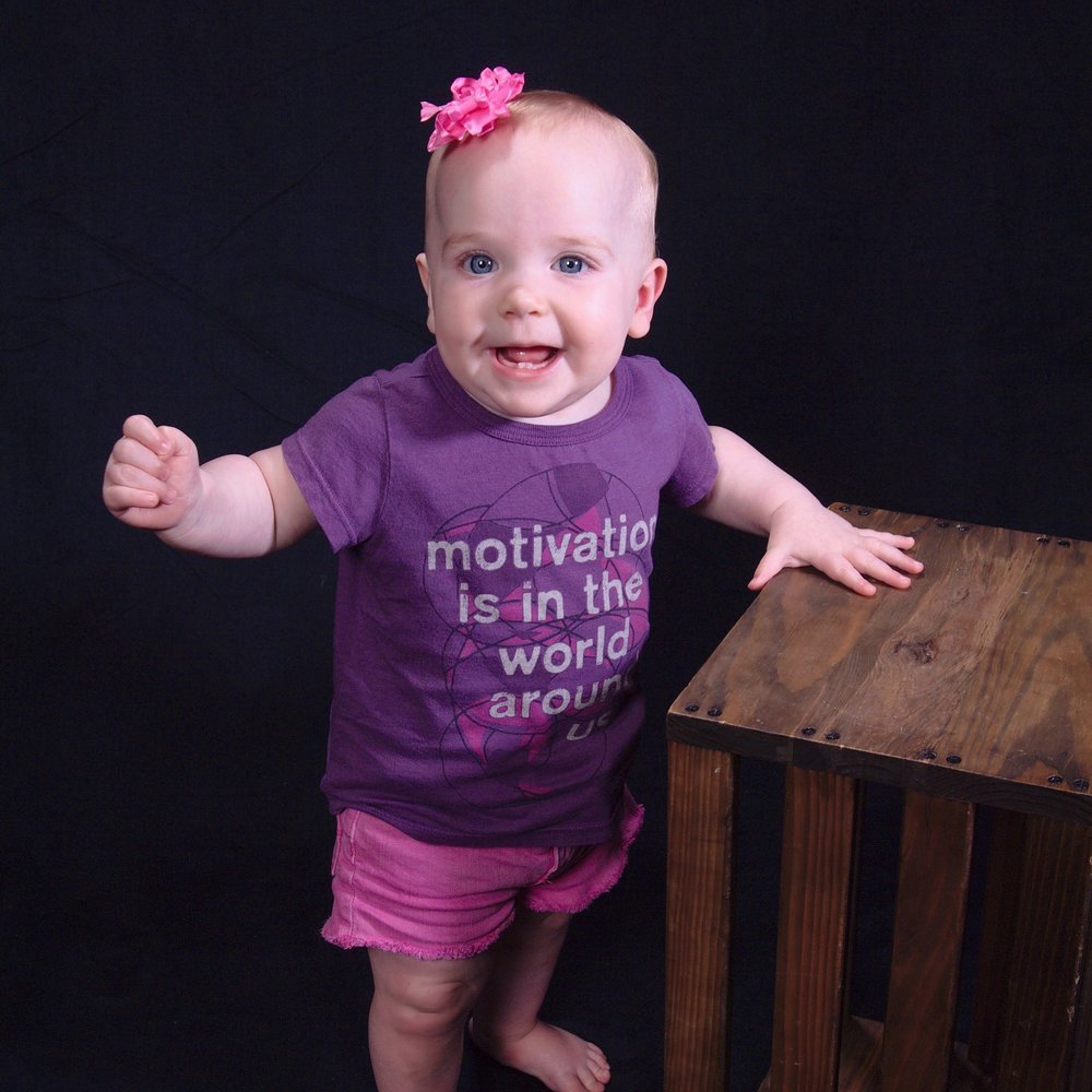 """^This precious photo was taken of 10-month-old Piper because Melanie """"could not get enough pictures of this beautiful child."""""""
