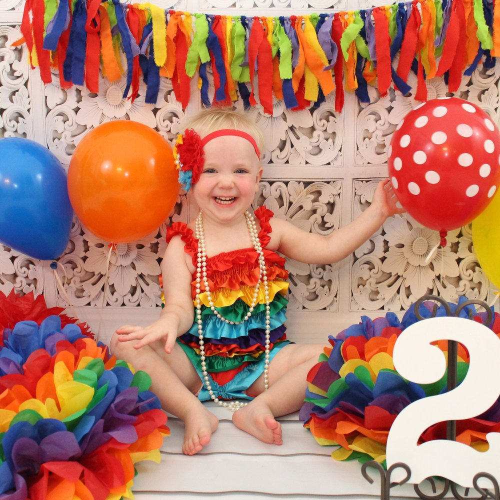 ^ Piper's second birthday photo shoot while she and Melanie were living in McKinney. (Photo by Bri Andor)