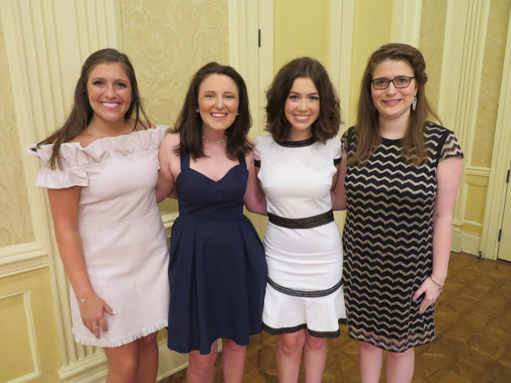 Anna Catherine Boudreaux, Beth Ann Dowd, Grace Hickey and Emily McMillan